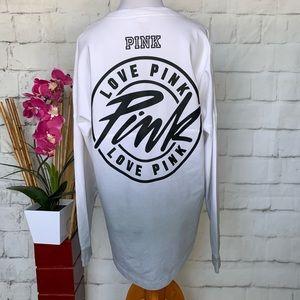 PINK VS Long Sleeve Big Logo Dog T-shirt Size S OS